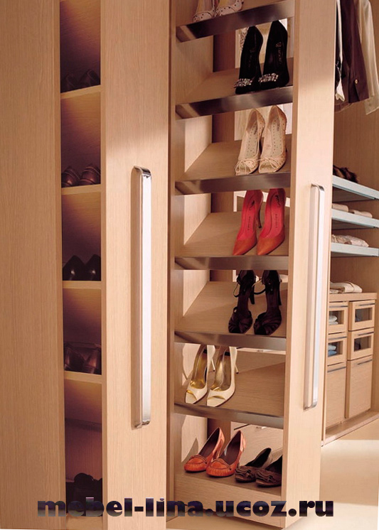 Как сделать шкаф под обувь встроенный.