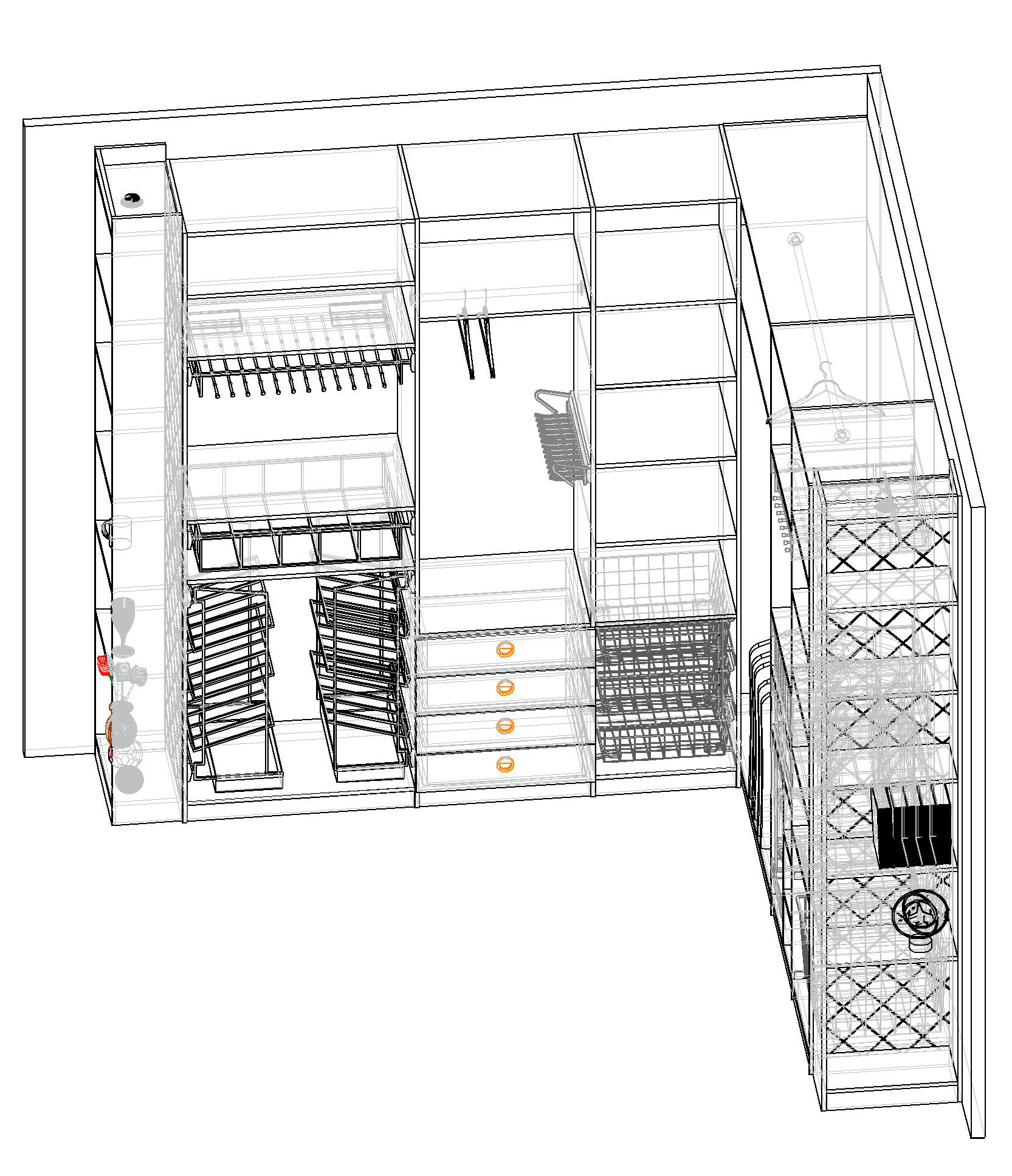Гардеробная комната своими руками чертежи и схемы фото